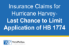 See Insurance Claims for Hurricane Harvey-Last Chance to Limit Application...