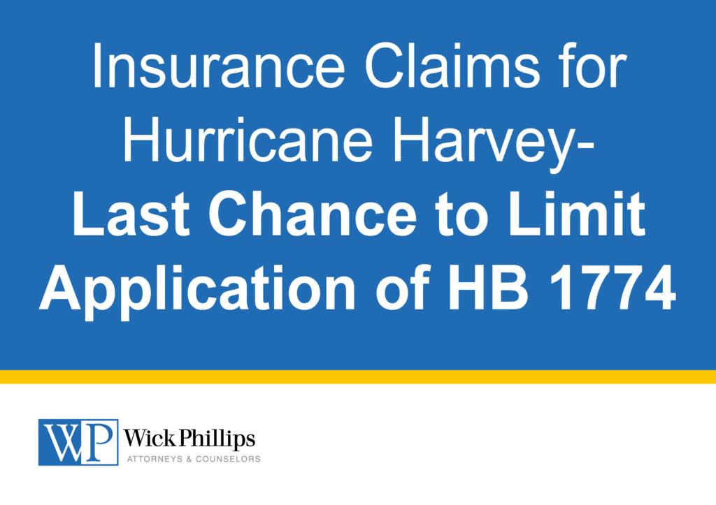 Hurricane Harvey Client Alert