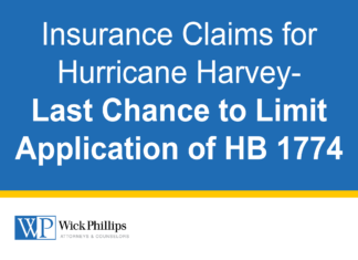 See Insurance Claims for Hurricane Harvey-Last Chance to Limit Application of HB...