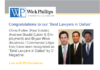 "See Three Wick Phillips Partners Recognized as ""Best Lawyers in..."