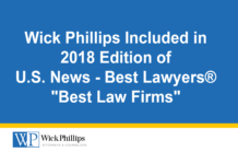 See Wick Phillips Included in 2018 Edition of U.S. News...