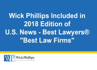 See Wick Phillips Included in 2018 Edition of U.S. News – Best...