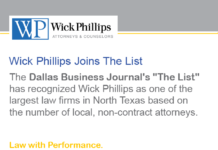 See Wick Phillips Recognized as One of the Largest Firms...