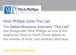 See Wick Phillips Recognized as One of the Largest Firms in North...