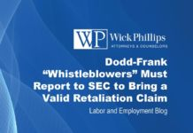 "See Dodd-Frank ""Whistleblowers"" Must Report to SEC to Bring a..."