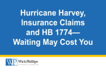 See Hurricane Harvey, Insurance Claims and HB 1774—Waiting May Cost...