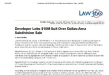 See Home Developer's $10 Million Tortious Interference Lawsuit Derailed (for...