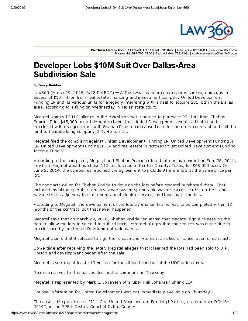 Developer Lobs $10M Suit Over Dallas-Area Subdivision Sale - Law360 (003)_Page_1.jpg